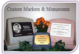 Custom Markers and Monuments Logo